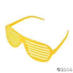 Yellow+Shutter+Shading+Glasses+-+OrientalTrading.com
