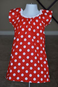 Minnie Inspired Dress and hairbow size 03 by sweetbirdieboutique, $30.00