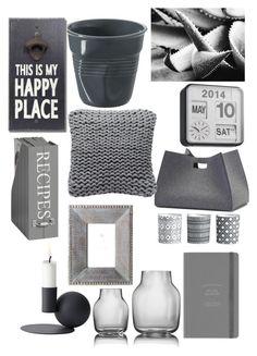 """#New York #grey deco #NC4you"" by claudiasauter on Polyvore featuring interior, interiors, interior design, Zuhause, home decor, interior decorating, H&M, Menu, Hey Sign und Fogarty"