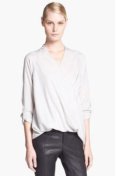 Favorite blouse.  Helmut Lang Raglan Sleeve Drape Front Blouse  http://rstyle.me/n/ibv8hbtd