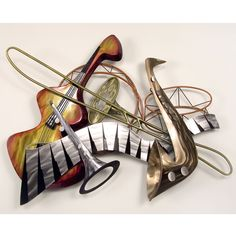 Cool Jazz | Cool Jazz Wall Sculpture Silver