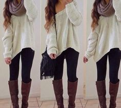 cute cozy sweater outfits | shirt oversized sweater all cute outfits scarf sweater beige edit tags
