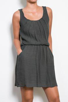 GreyPocket Dress