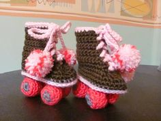 bootie sizes chart crochet | lion crochet lion booties roller skate booties baby hi top booties ice ...