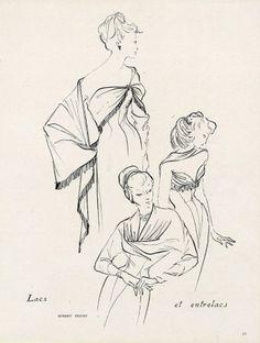 Robert Piguet 1949 Runacher Fashion Illustration