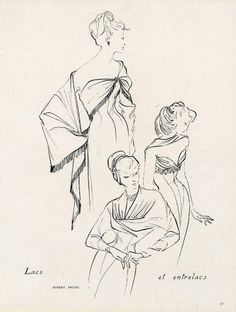 Robert Piguet 1949 Runacher Fashion Illustration