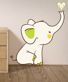 Look what I found on #zulily! Baby Elephant Wall Decal by LolliPOP Walls #zulilyfinds