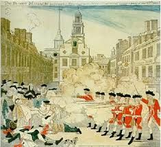 Boston Massacre. Colonists Harassed British troops and the British finally shot, five people died.  First time the colonists felt that the British weren't protecting them.