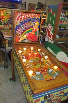 Gottlieb '51 Glamor Woodrail Toughest Pinball Machine to Find RAREST of The RARE | eBay