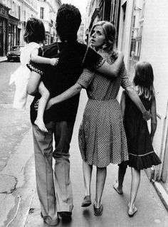 The McCartney's taking a stroll in France, 1972.