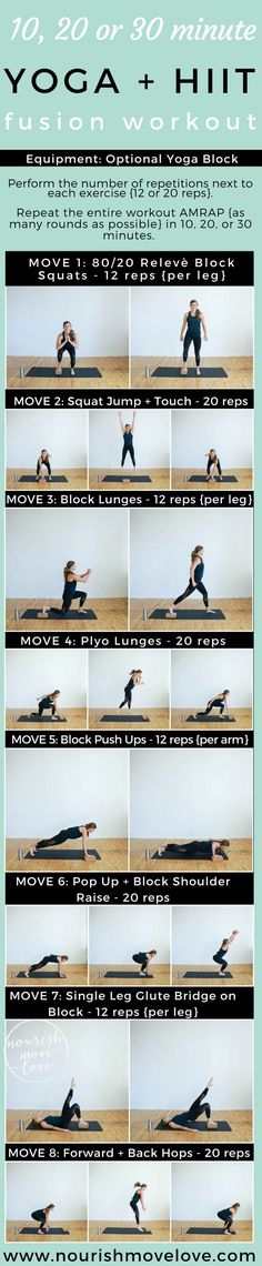 strengthen and lengthen while increasing power and endurance with this metabolic boosting calorie-burning yoga hiit fusion workout you can do AT HOME in 10 20 or 30 minutes! Yoga Fitness, Fitness Plan, Yoga Inspiration, Pilates, Prenatal Yoga Poses, Online Workout Videos, Power Yoga, 30 Minute Yoga, Morning Yoga Flow