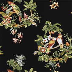 BISCAYNE, Black, T2505, Collection Laguna from Thibaut