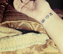 peace love music.. I really like this if I was thinking of getting another tattoo