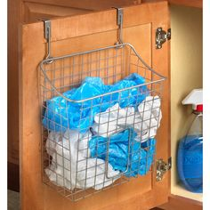 Spectrum Diversified Over the Cabinet Grid Cabinet Door Orga.- Spectrum Diversified Over the Cabinet Grid Cabinet Door Organizer Under Sink Organization, Sink Organizer, Kitchen Organization, Kitchen Storage, Organization Ideas, Cabinet Organizers, Organizing Tips, Kitchen Pantries, Organizing Solutions
