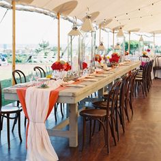 Tented, beach reception decor // Photo: Trent Baiely // Planning: La Boheme Events // http://www.theknot.com/weddings/album/132659