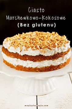 Carrot-Coconut Cake [Gluten and Lactose Free] Dessert Sans Gluten, Gluten Free Sweets, Gluten Free Cakes, Vegan Sweets, Healthy Sweets, Healthy Baking, Raw Food Recipes, Sweet Recipes, Cake Recipes