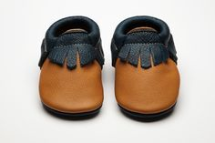 Mohawk Bruno Moccs - Eco-Friendly Soft Leather Moccasins Baby Shoe by Wolfie and Willow