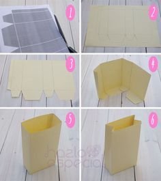 Hazlo Especial | DIY: Como hacer bolsas de papel. Deco Buffet, Diy And Crafts, Paper Crafts, Creation Deco, Ideias Diy, Original Gifts, Diy Box, Diy Gifts, Gift Tags