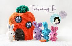 What better way to add a little fun to Easter Baskets this year than with this adorable micro family of traveling rabbits!? This free crochet pattern will get you on track to giving your kids the most unique and fun baskets around….while still featuring your hand-made touch! Easter Bunny Crochet Pattern, Crochet Patterns Amigurumi, Crochet Rabbit, Cute Crochet, Crochet Dolls, Crochet Hats, Crochet Crowd, Crochet Toddler, Easter Baskets