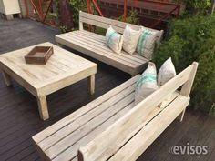 Fotos de Juego de living jardin para exterior en madera reciclada