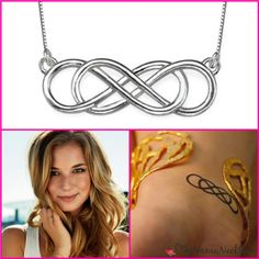 Emily of Revenge loves her infinity. Get a double infinity necklace to show your Revenge love!