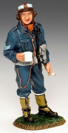 World War II British Royal Air Force RAF035 Typhoon Pilot - Made by King and Country Military Miniatures and Models. Factory made, hand assembled, painted and boxed in a padded decorative box. Excellent gift for the enthusiast.