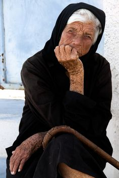 Greek Yiayia -Santorini