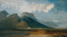 Joseph Mallord William Turner, 'Grenoble Seen from the River Drac with Mont Blanc in the Distance' c.1802