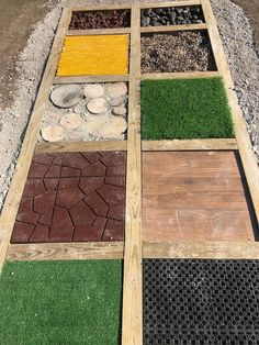 Myers' Kindergarten: Creating Our Barefoot Sensory Path an… – natural playground ideas Outdoor Learning Spaces, Kids Outdoor Play, Outdoor Play Areas, Backyard Play, Kids Play Area, Backyard For Kids, Toddler Playground, Natural Playground, Outdoor Playground
