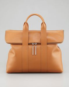 31-Hour Fold-Over Tote Bag, Camel by 3.1 Phillip Lim at Bergdorf Goodman.