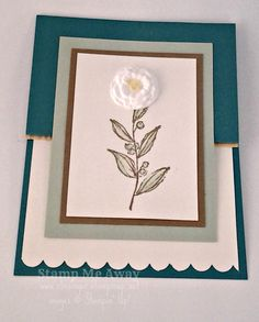 A fun fold card using Simply Pressed Clay to make the flower embellishment.