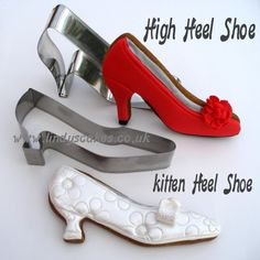 High heel and kitten heell cookies decorated by Lindy Smith