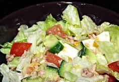 Tonhalsaláta Szityó konyhájából Cobb Salad, Potato Salad, Potatoes, Ethnic Recipes, Food, Diet, Potato, Essen, Meals