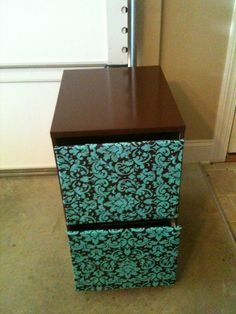 File Cabinet Redo - I can finally do one now that I actually have a cabinet! Yay!