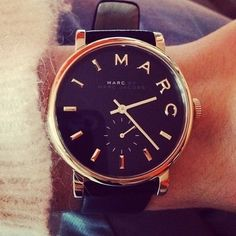 Marc by Marc Jacobs watch.... Black and gold watch my next one on order!