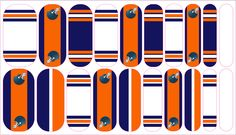 Chicago Bears Inspired Custom NAS Jamberry wraps, follow link to order