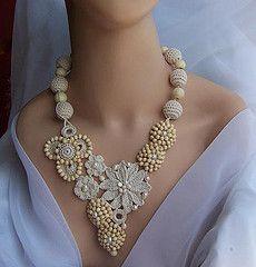 Crochet & Beaded Necklace/inspiration!