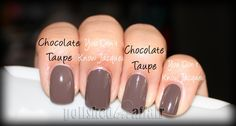 NYX's Chocolate Taupe vs. OPI's You Don't Know Jacques