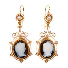 TITLE:	 XIXth century Agate Cameo ear pendants PRICE:	 View Price Purchase> OF THE PERIOD:	 Napoléon III COUNTRY:	 France DATE OF MANUFACTUR...