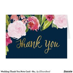 Mahalo Photo Wedding Thank You Note Card  Thank You Cards