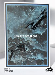You are not alone - reaching hands stamps - visible image - oxides - card - Jane Tyrrell Reaching Hands, Sky Day, Image Stamp, Handmade Card Making, Distress Oxides, Beautiful Handmade Cards, Hand Stamped, Stencils, Crafty