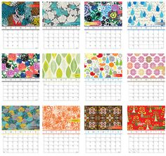 love this handmade calendar too! Gorgeous floral prints. [$30]