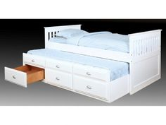 with trundle bed and drawers.
