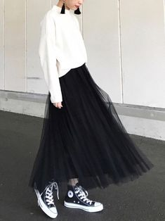 54 Ideas For Style Elegant Casual Full Skirts Fall Fashion Outfits, Look Fashion, Womens Fashion, Fashion Black, 40s Fashion, Fashion Stores, Long Skirt Fashion, Modest Fashion, Apostolic Fashion