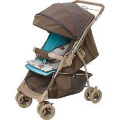 Carrinho de Bebê Galzerano Maranello Chocolate/Verde, pratico, seguro e confortável.    Carrinho 2 em 1: função berço e função passeio.
