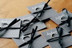 Ring cards. By rachelchew, on Flickr. http://elephantine.typepad.com/....I like this idea for packaging jewelry.
