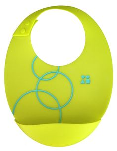 Siliskin Bib by Silikids: Stays on perfectly, wipes clean, and that pocket is perfect.