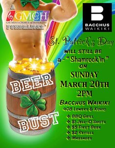GMCofH Shamrock'in' Beer Bust & Fundraiser! - http://www.fullofevents.com/city/oahu/event/gmcofh-shamrockin-beer-bust-fundraiser/