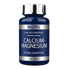 Scitec Nutrition Calcium Magnesium 100 Tablets for sale Calcium Magnesium, Milk Thistle Extract, Scitec Nutrition, L Arginine, Strong Bones, Vitamins And Minerals
