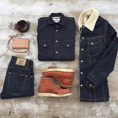 '…I've had an interest in denim for as long as I can remember. But it took a turn to a more serious interest when I visited a Nudie shop in Gothenburg…' 🗣 Head over to. Big Men Fashion, Dark Fashion, Classic Outfits, Casual Outfits, Fashion Outfits, Stylish Men, Men Casual, Gq Mens Style, Timberland Boots Outfit